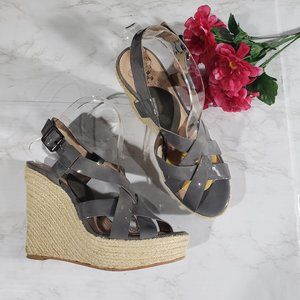 Vince Camuto Gray Wedges Hattie Size 8